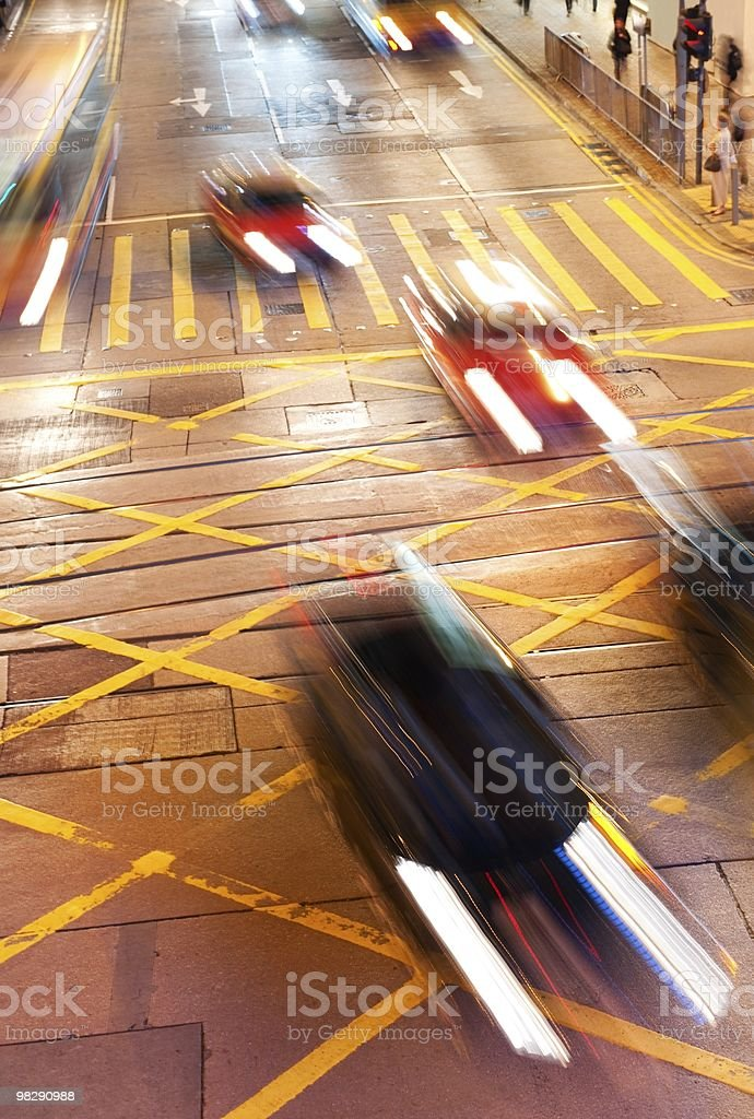 Fast moving cars royalty-free stock photo