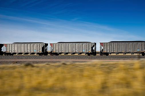 Fast Moving Coal Train