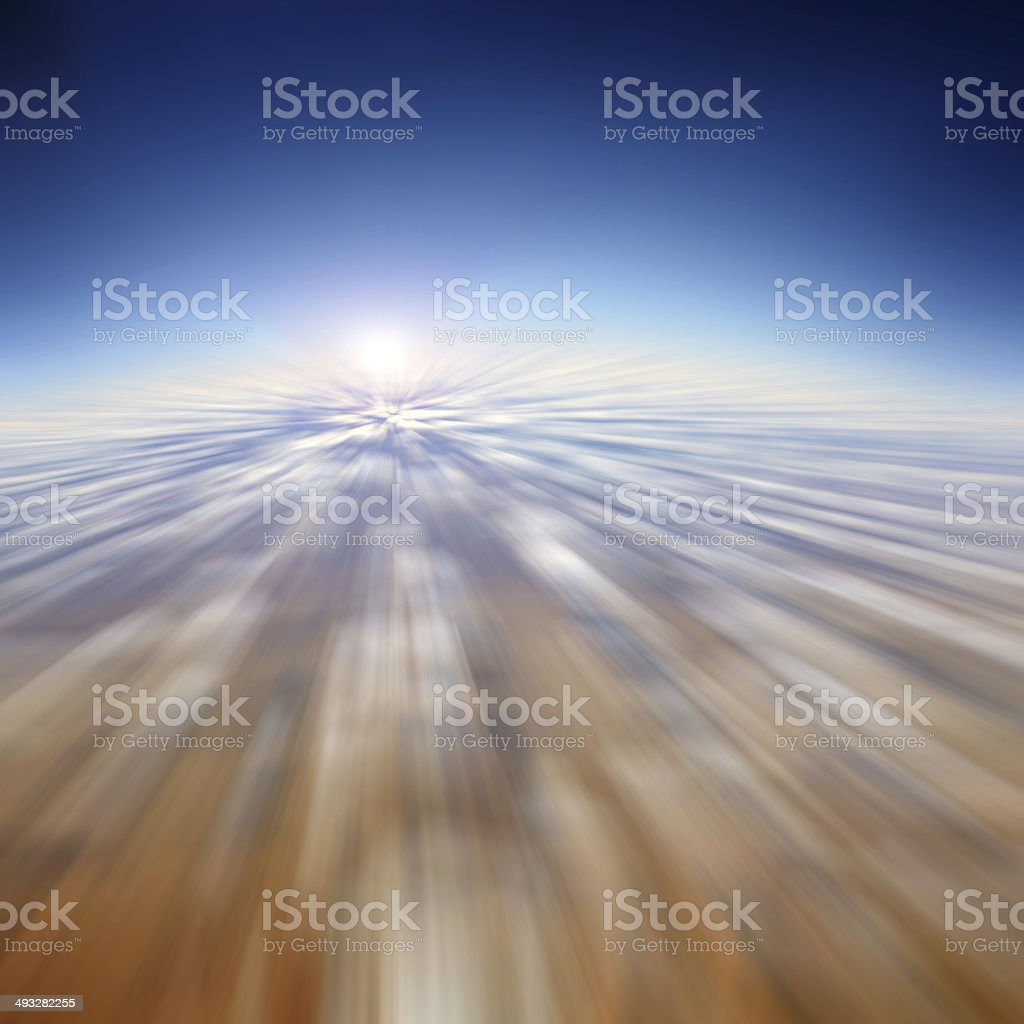 Fast moving in the sky - motion blur abstract background stock photo