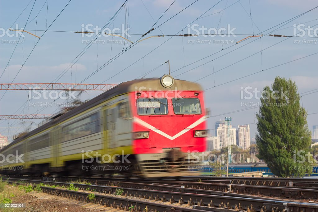 Fast moving urban electric multiple unit foto stock royalty-free