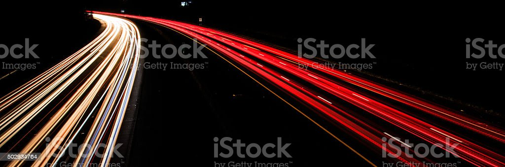 Fast moving vehicle stock photo
