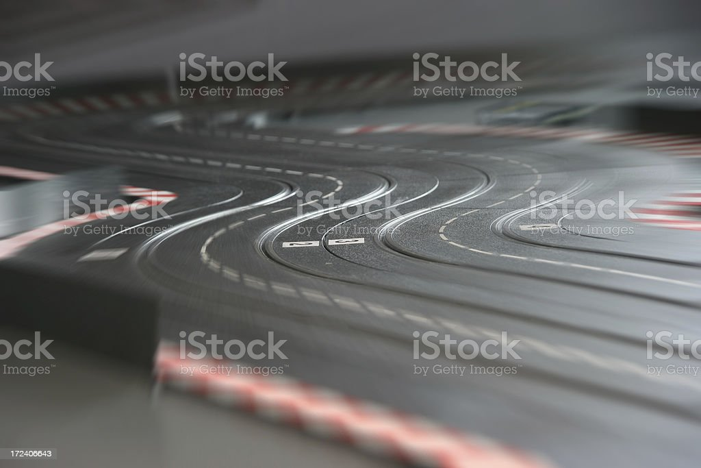 fast on the speedway royalty-free stock photo