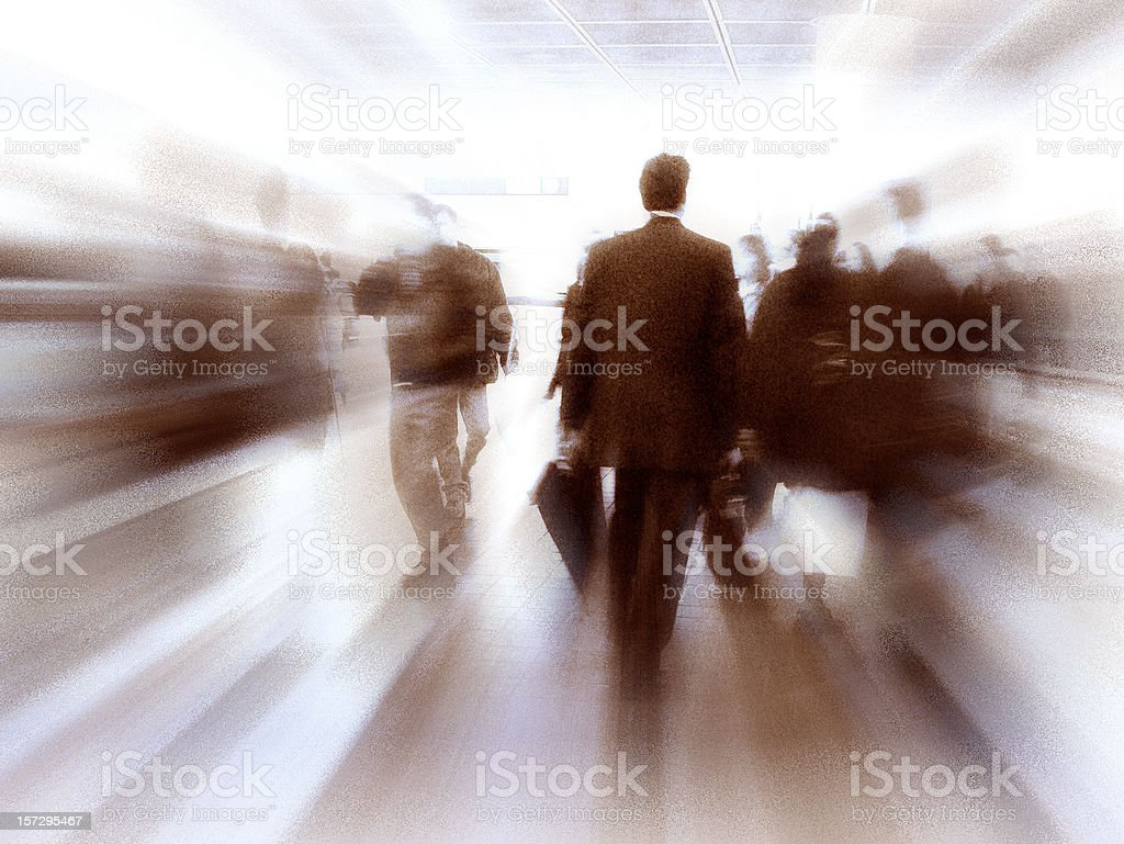 Fast Paced Business World with Blurred Motion royalty-free stock photo