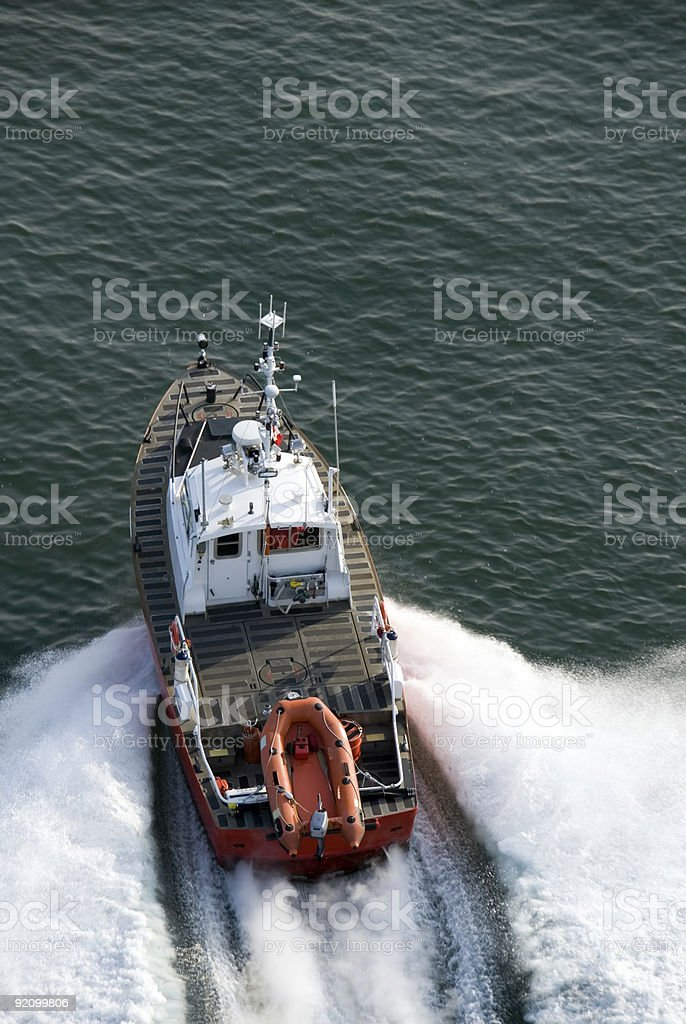 Fast Patrol Boat stock photo