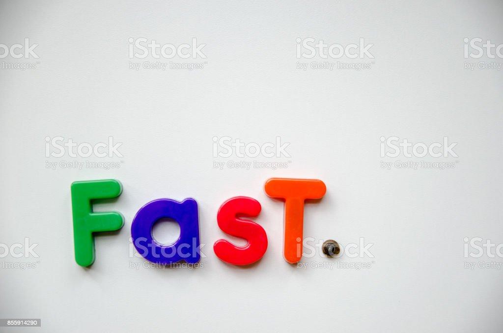 Fast. stock photo