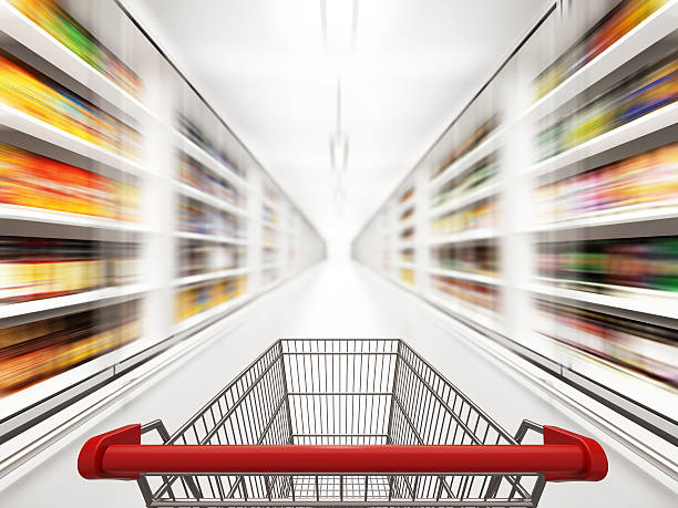 Fast Shopping stock photo