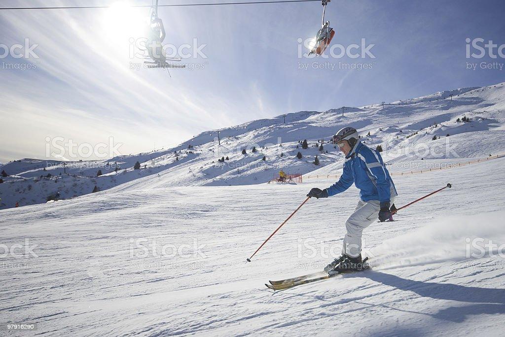Fast Ski Driver royalty-free stock photo