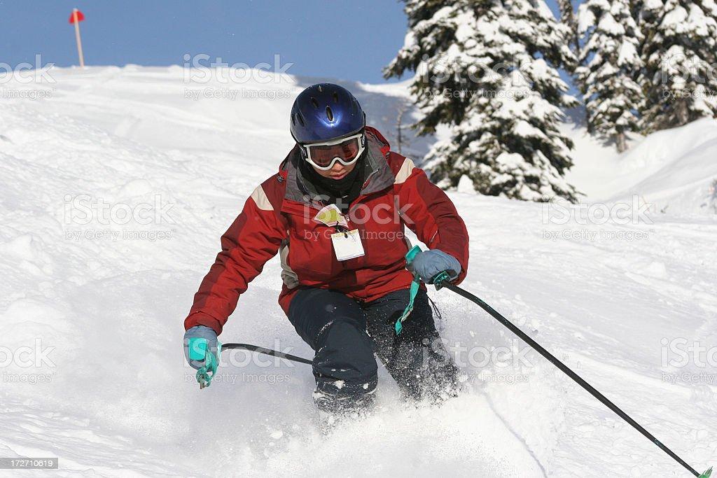 Fast Skier royalty-free stock photo