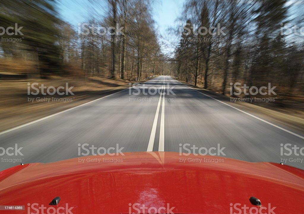 Fast speeding car stock photo