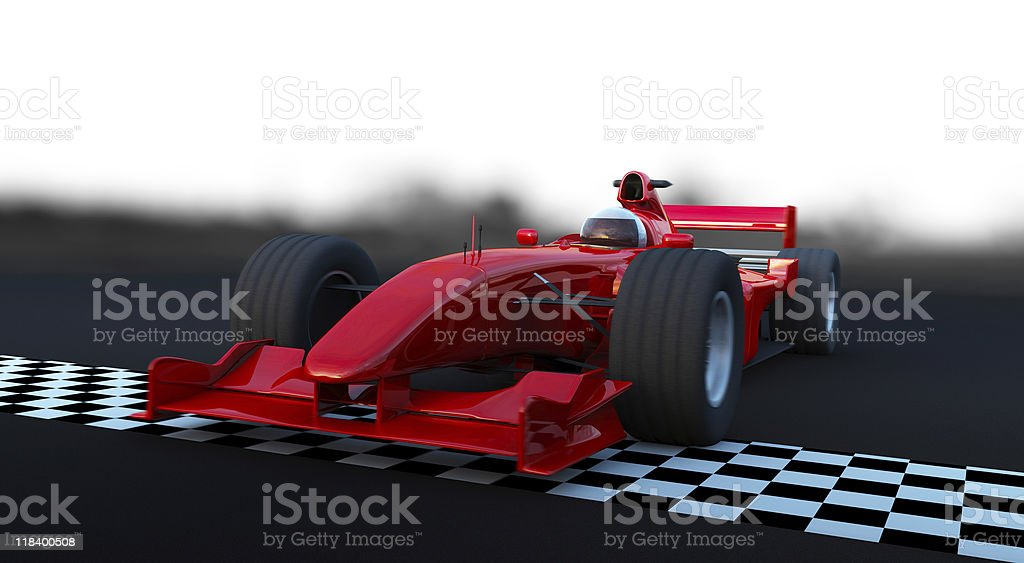 Fast sports car in action royalty-free stock photo
