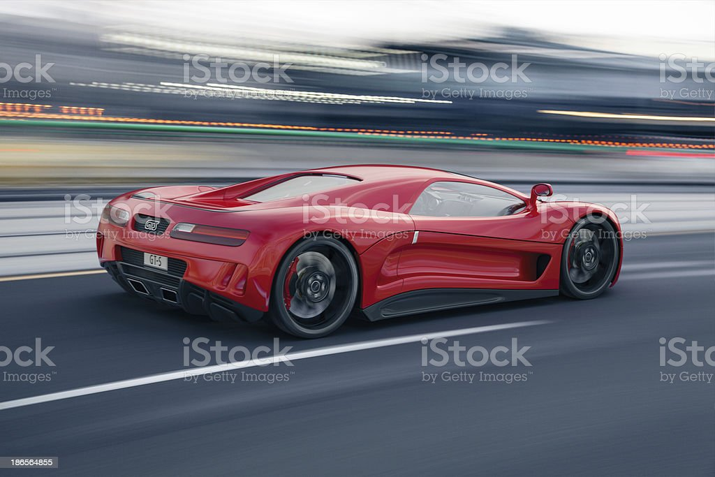 Fast Sports Car royalty-free stock photo