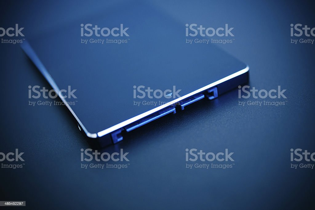 Fast SSD disk stock photo