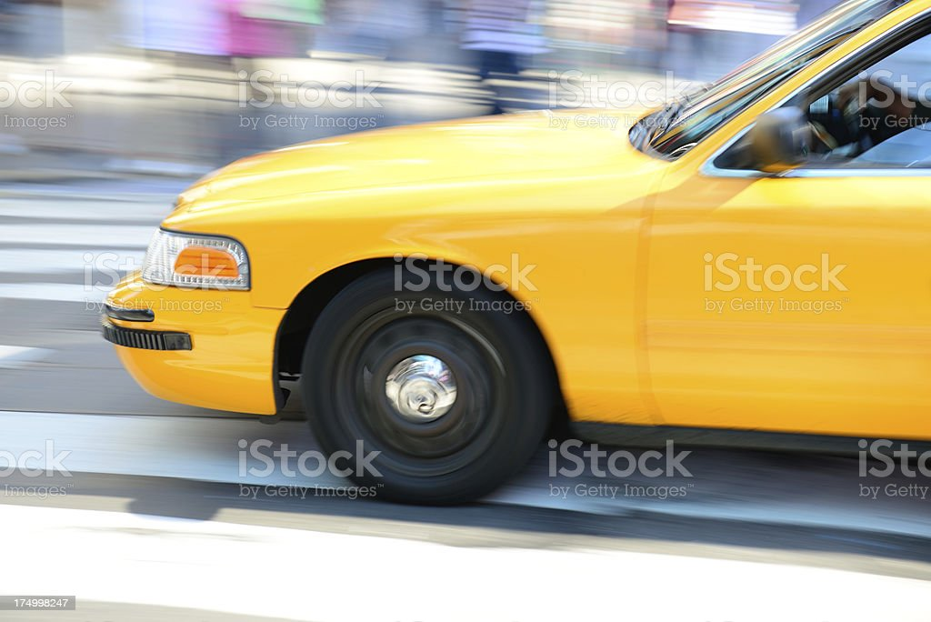 Fast taxi on the streets of New York City royalty-free stock photo