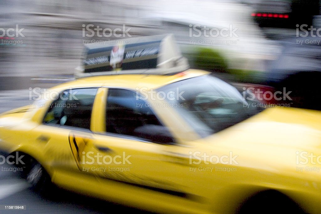 Fast Taxi royalty-free stock photo