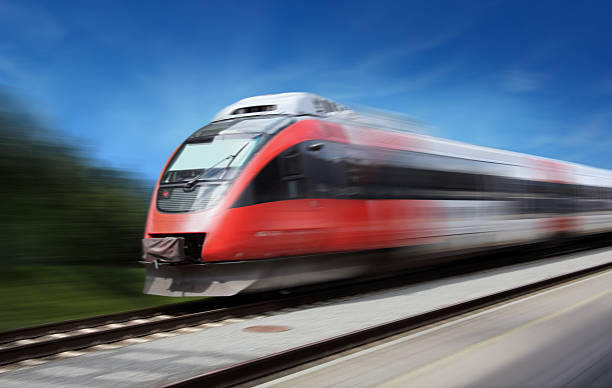 Fast Train Modern Fast Train in Motion bullet train stock pictures, royalty-free photos & images