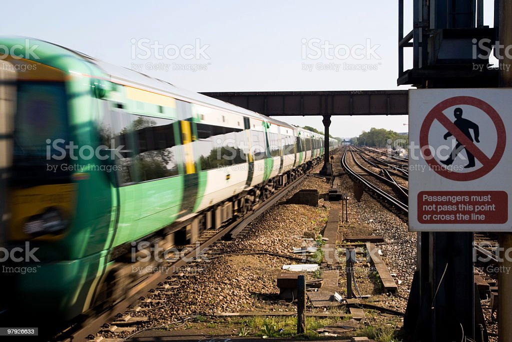Fast train royalty-free stock photo
