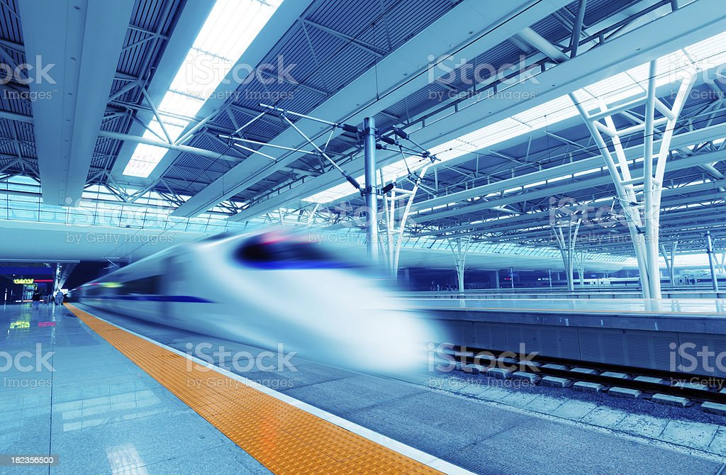Fast trains stock photo