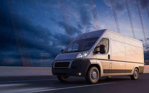 schnelle transport - nutzfahrzeug stock-fotos und bilder