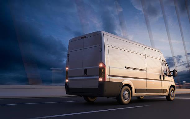 schnelle transport - kastenwagen stock-fotos und bilder