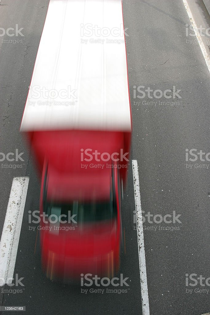 Fast truck on highway royalty-free stock photo