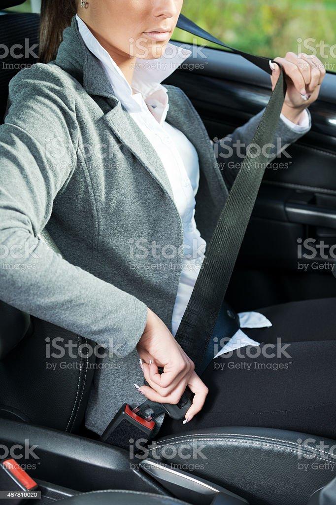 Fasten your seat belt stock photo