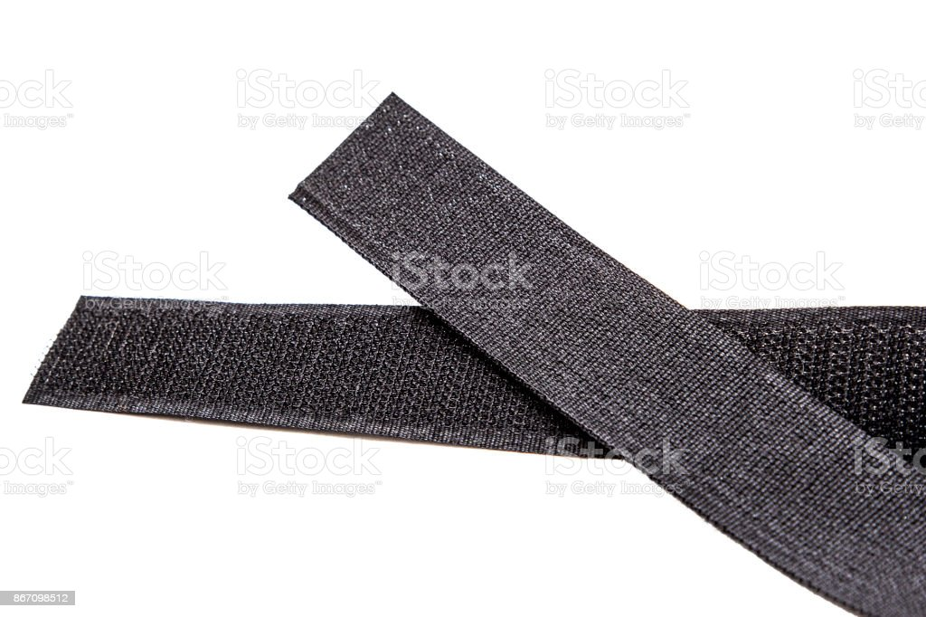 Fastener Velcro tape isolated on white stock photo