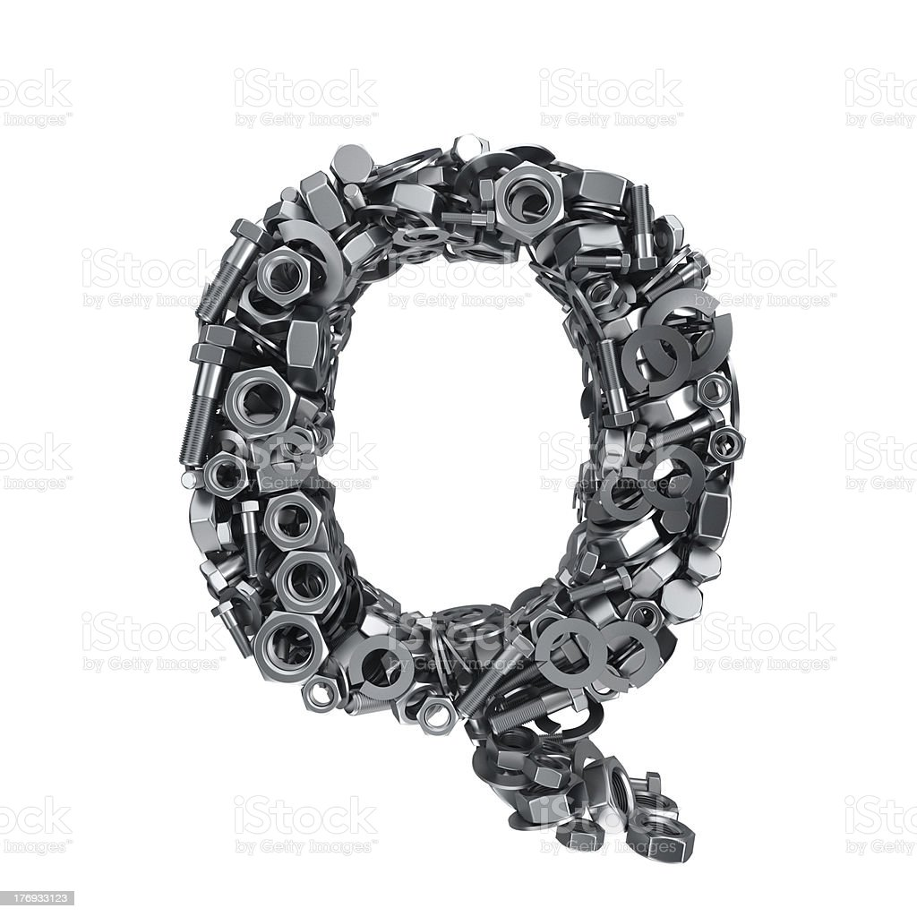Fasteners Q royalty-free stock photo