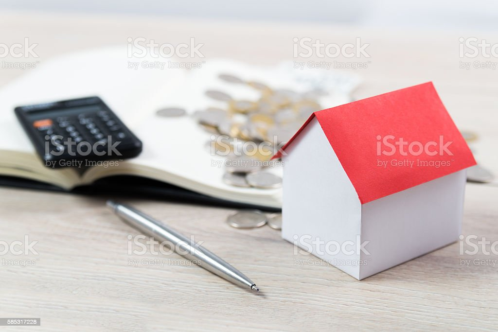 Faster pay off your mortgage stock photo