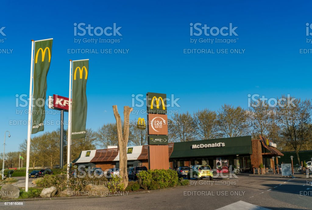 Fastfood Drive through restaurants stock photo