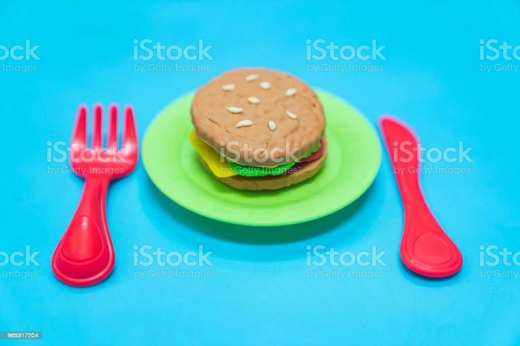 Fastfood model. royalty-free stock photo