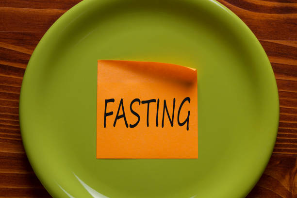 Fasting Concept stock photo