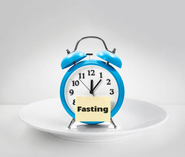 fasting time stock photo