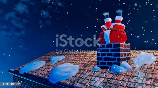 Concept of being in an unhealty state. Santa Claus gets stuck in chimney on christmas eve because he is too fat. Maybe he should hit the gym in January.