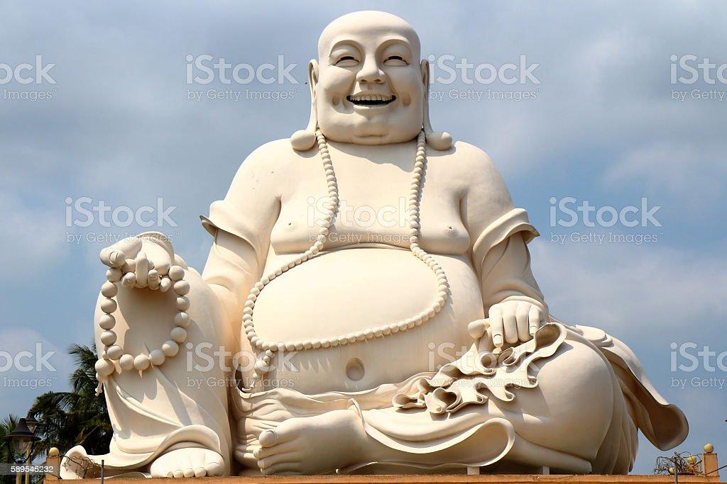 Fat Buddha head stock photo