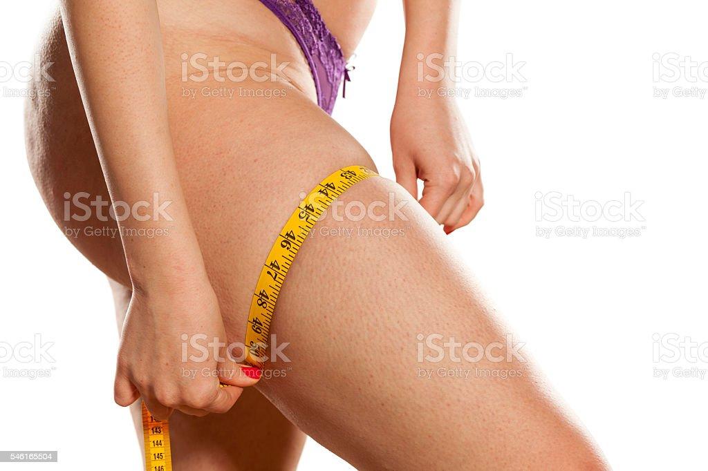 fat checking stock photo