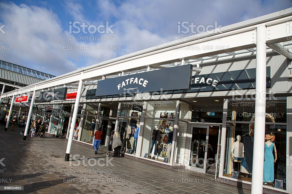 Fat Face Clothing Store stock photo