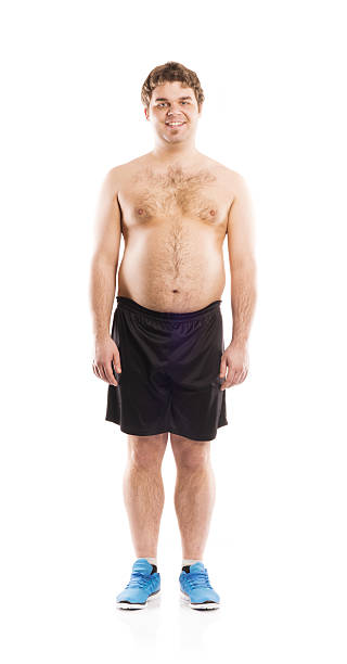 fat guy without a shirt