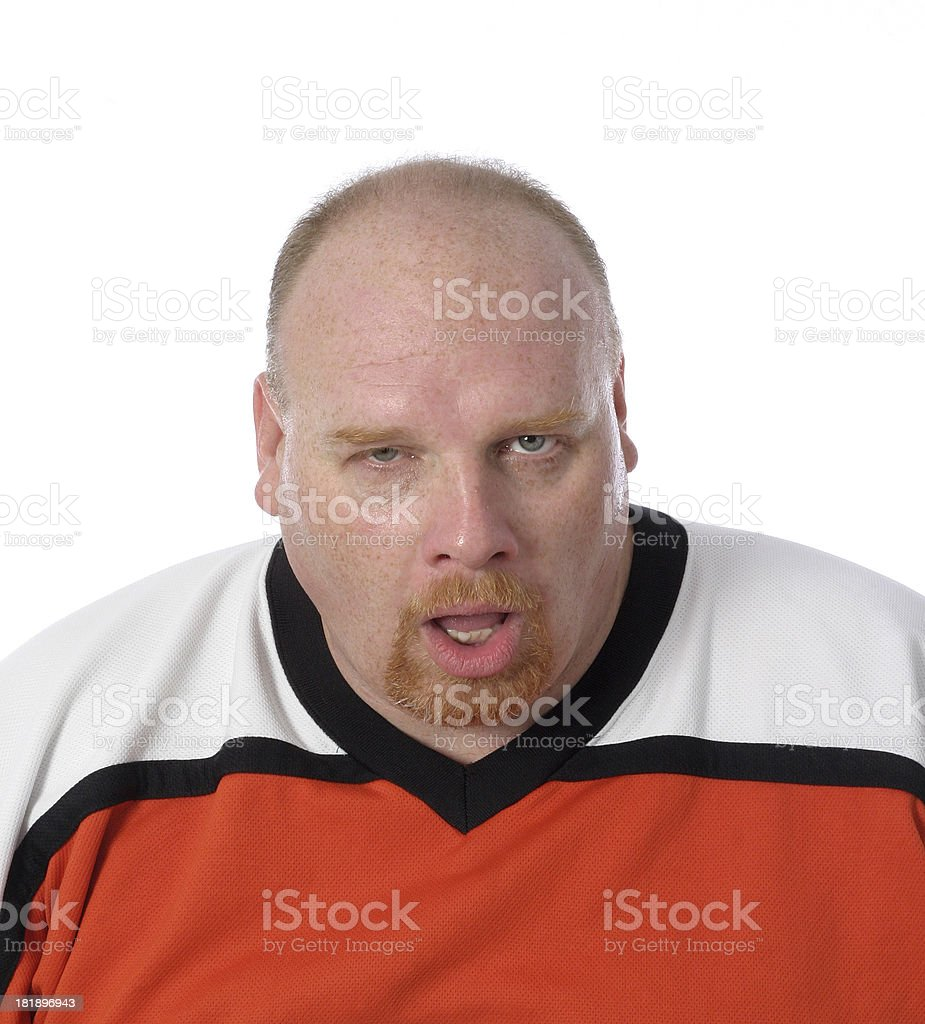 fat man Expression royalty-free stock photo