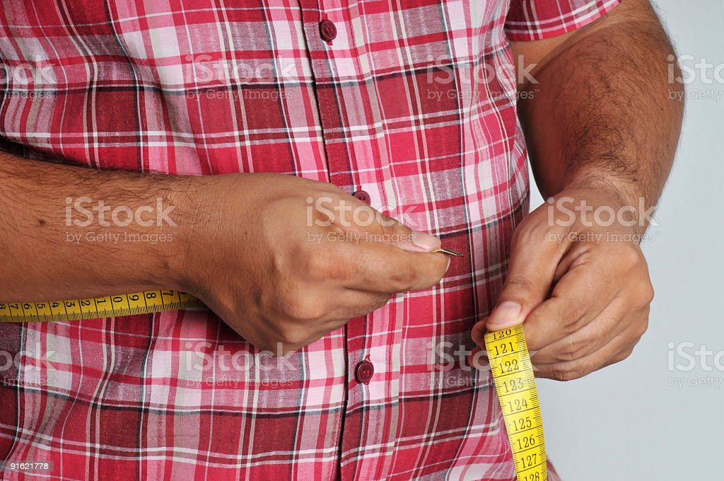 fat man stock photo