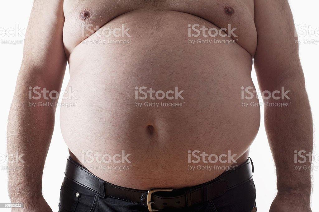 fat man royalty-free stock photo