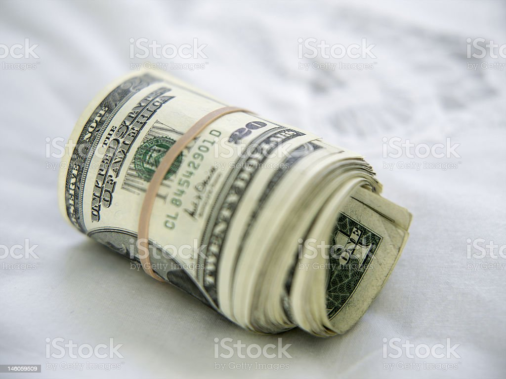 fat money roll royalty-free stock photo