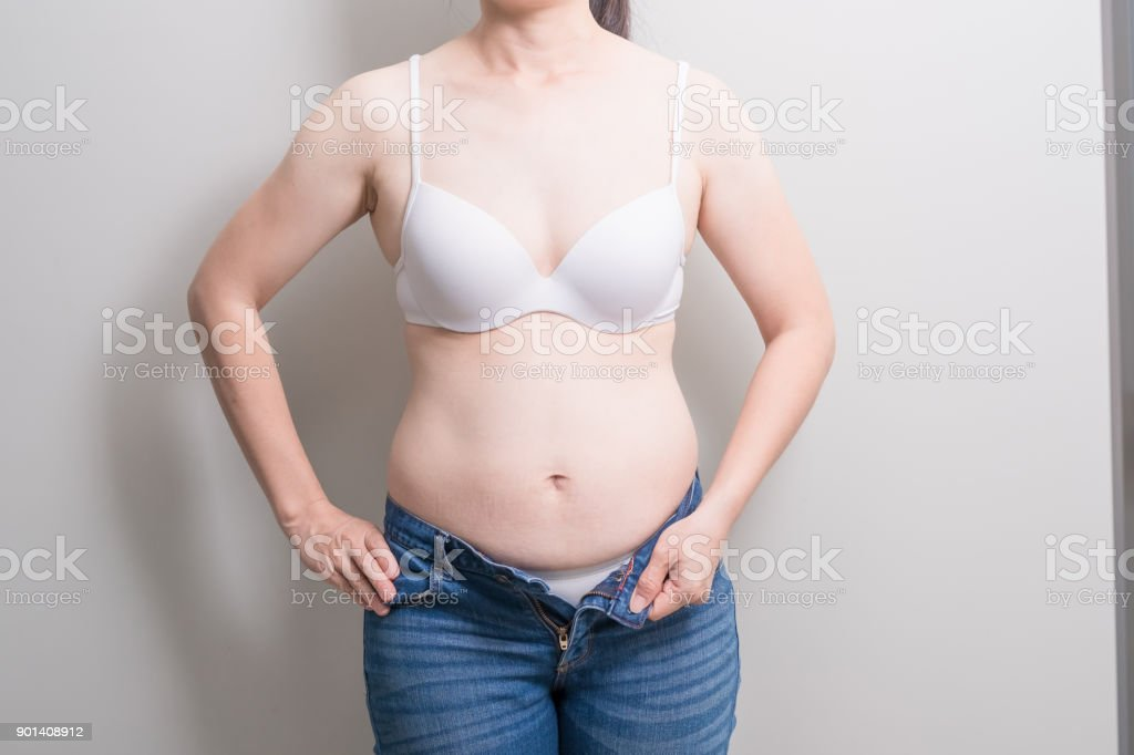 Fat overweight woman stock photo