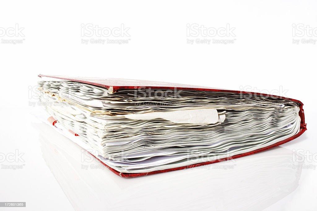 fat record book: data storage! stock photo