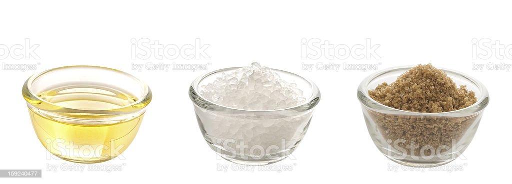 fat salt and sugar stock photo