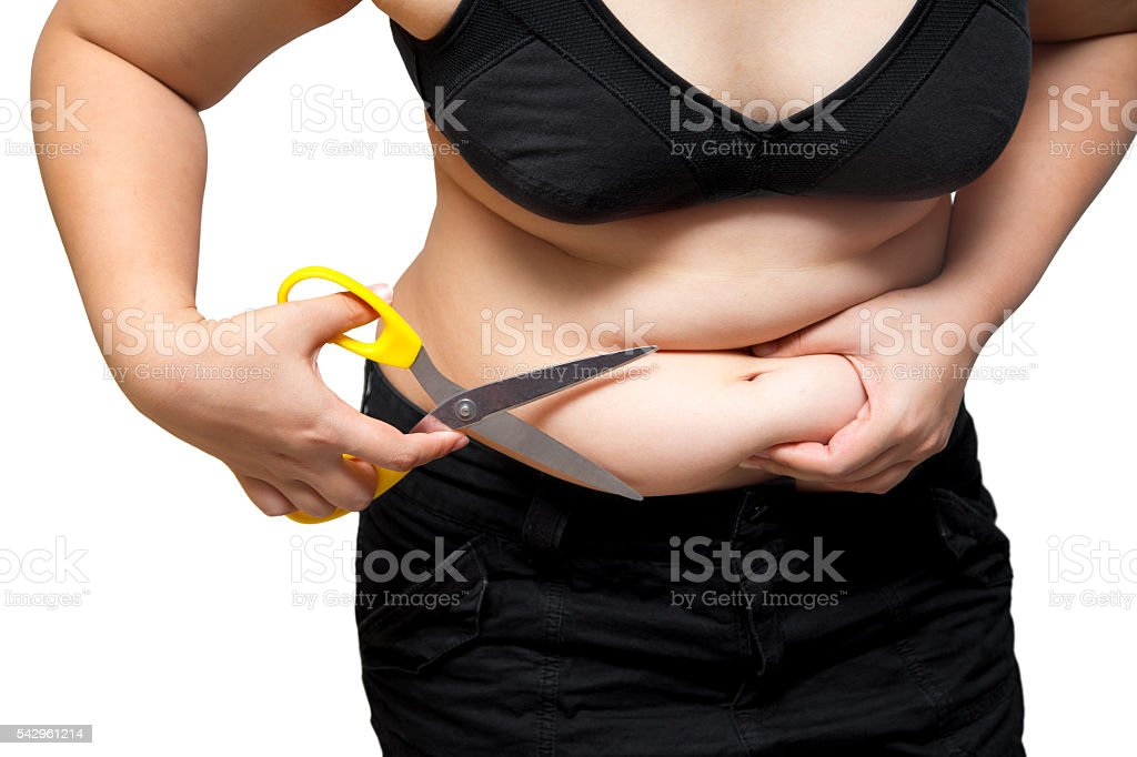 Fat Woman Cut Belly Obesity Cellulite Plastic Surgery Concept Stock Photo Download Image Now Istock