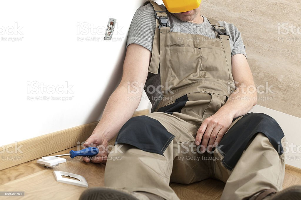 Fatal electric shock injury stock photo