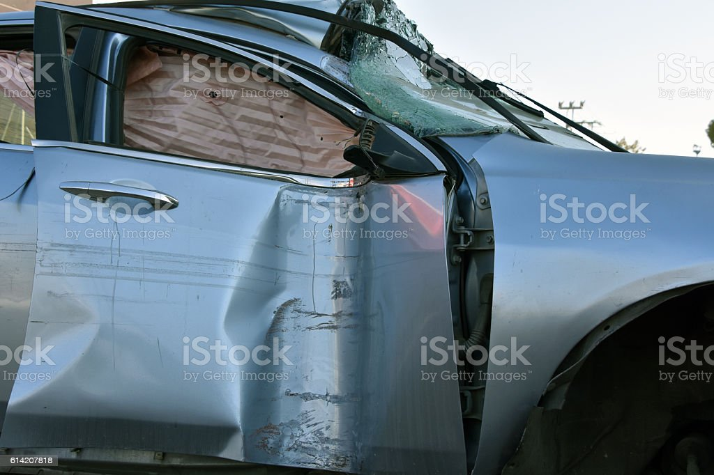 Fatal road accident stock photo