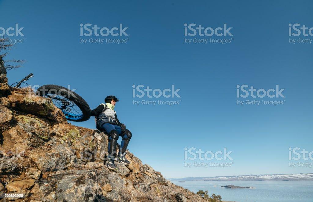 Fatbike. Fat tire bike. stock photo