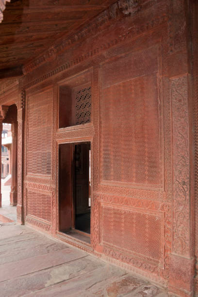 Fatehpur Sikri, Agra, India. Agra, Uttar Pradesh / India - February 7, 2012 : The exterior part of the Turkish Sultan's house in the courtyard of the Jodhabai's palace in Fatehpur Sikri, Agra. jodha bai's palace stock pictures, royalty-free photos & images