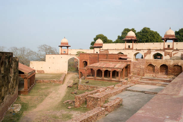 Fatehpur Sikri, Agra, India. Agra, Uttar Pradesh / India - February 7, 2012 : The stone cutter's mosque in the courtyard of the Jodhabai's palace in Fatehpur Sikri, Agra. jodha bai's palace stock pictures, royalty-free photos & images